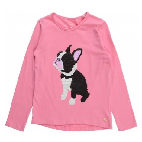 TOM TAILOR Koszulka różowy / czarny