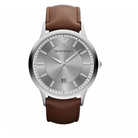 Zegarek EMPORIO ARMANI - Renato AR2463 Brown/Silver/Steel