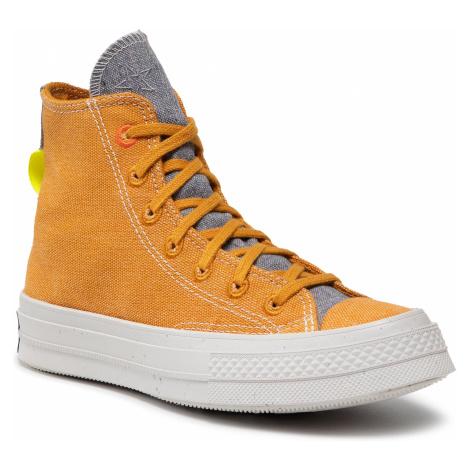 Sneakersy CONVERSE - Chuck 70 Hi 168615C Saffron Yellow/Lemon Venom