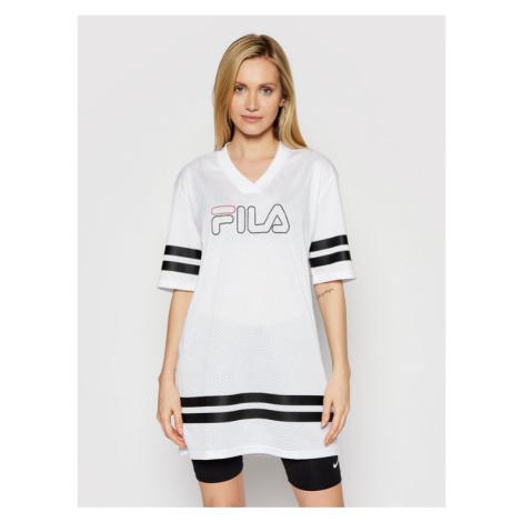 Fila T-Shirt Jala 683299 Biały Oversize