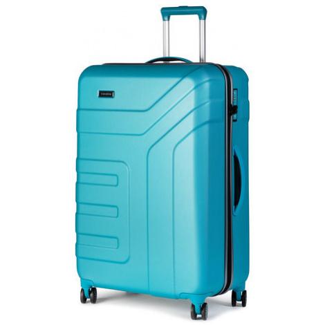 Travelite Średnia Twarda Walizka Vector 72049-21 Niebieski