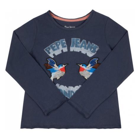 Pepe Jeans Bluzka Caprice PG502372 Granatowy Regular Fit