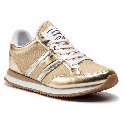 Sneakersy TOMMY JEANS - Casual Retro Sneaker EN0EN00413 Light Gold 715 Tommy Hilfiger
