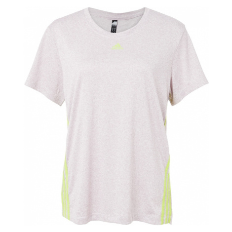 ADIDAS PERFORMANCE Koszulka funkcyjna jasnoszary / żółty