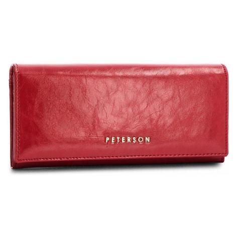 Duży Portfel Damski PETERSON - 467-14-03-01 Red
