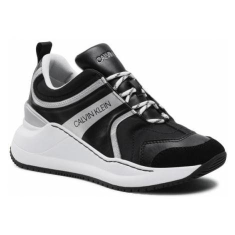 Calvin Klein Jeans Sneakersy Runner Sneaker Laceup Ny-Lth YW0YW00166 Czarny
