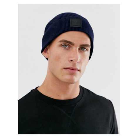 BOSS foxx logo beanie hat Hugo Boss