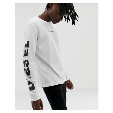 Diesel T-Joe-LS-SN long sleeve t-shirt in white