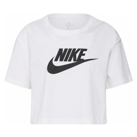 Nike Sportswear Koszulka czarny / biały
