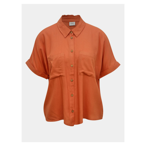 Luźna ceglana koszula Jacqueline de Yong Cathy