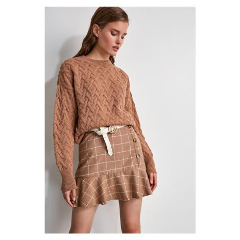 Trendyol Multi-Color Volley Plaid Skirt