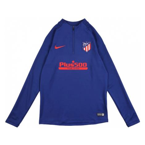 NIKE Bluza sportowa 'Atlético de Madrid' królewski błękit / czerwony