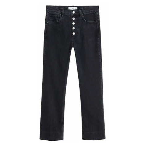 MANGO Jeansy czarny denim