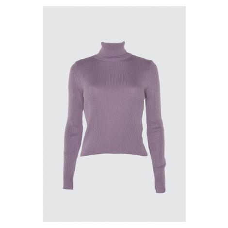 Trendyol Lila Upright Collar KnitSweater
