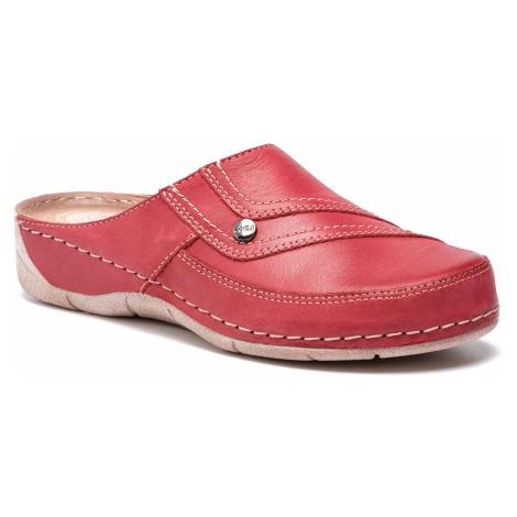Klapki WALDI - 0633 Czerwony
