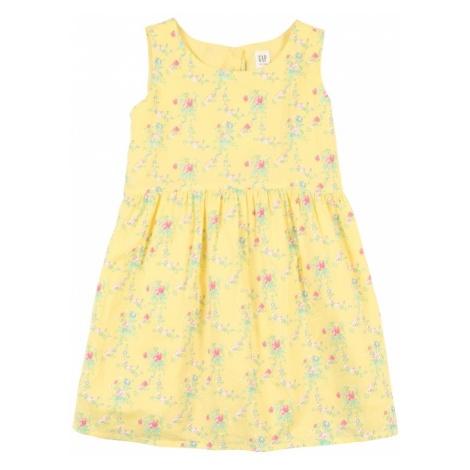 GAP Sukienka żółty / mieszane kolory