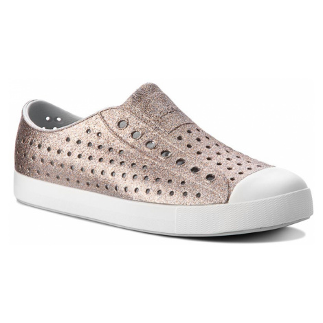 Trampki NATIVE - Jefferson Bling 11100112-1241 Metal Bling/Shell White Native Shoes