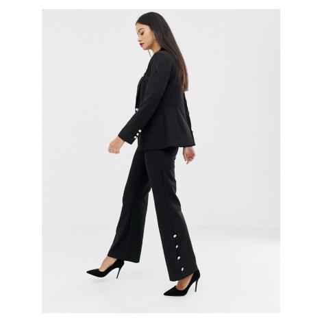 Unique21 wide leg trouser with button detail