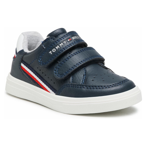 Sneakersy TOMMY HILFIGER - Low Cut Velcro Sneaker T1B4-31073-0621X007 S Blue/White X007