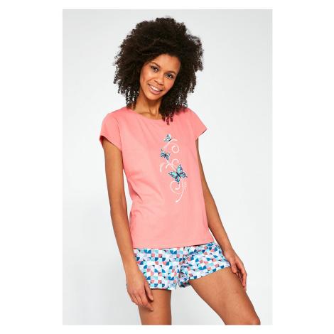 Trzyczęściowt damski komplet piżamowy Butterflies Cornette