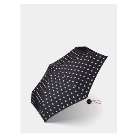 Black Women's Polka Dot Folding Umbrella Esprit