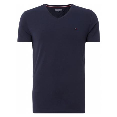 T-shirt o kroju Slim Fit z dekoltem w serek Tommy Hilfiger
