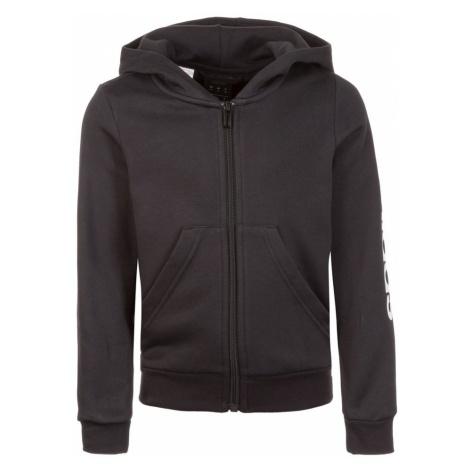 ADIDAS PERFORMANCE Sportowa bluza rozpinana 'Essentials Linear' czarny / biały