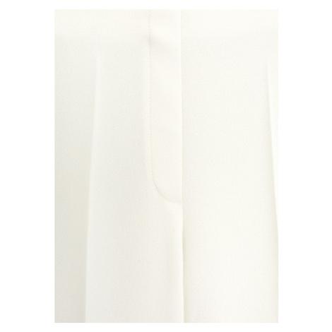 MANGO Spodnie w kant 'palachin' biały / beżowy