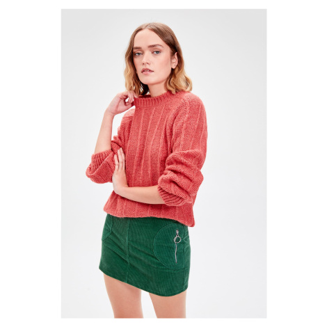 Trendyol Rose Dry Knitted Detailed Knitwear Sweater