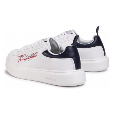 Trussardi Jeans Sneakersy 77A00279 Biały