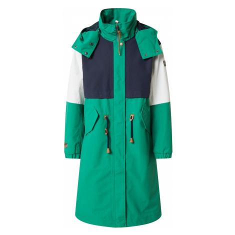 ICEPEAK Płaszcz outdoor 'Algoma' zielony / ciemny niebieski / biały