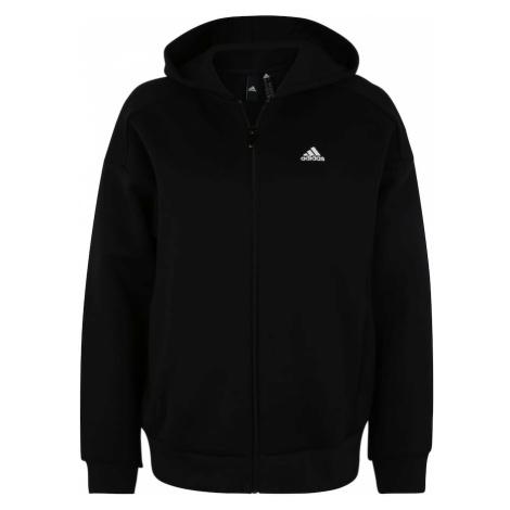ADIDAS PERFORMANCE Bluza rozpinana sportowa czarny / biały