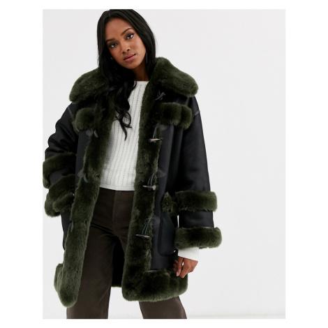 Urbancode reversible faux fur duffle coat