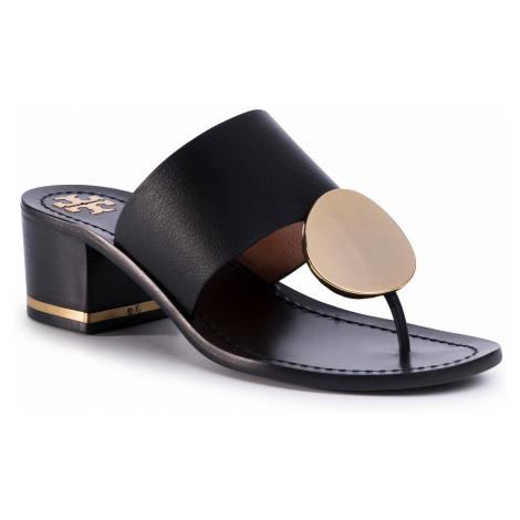 Japonki TORY BURCH - Patos Disk 45mm Sandal Calf Leather 63575 Perfect Black 006
