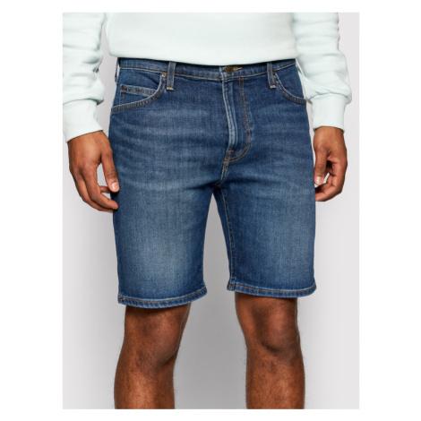 Lee Szorty jeansowe Rider L73FMGTQ Granatowy Slim Fit
