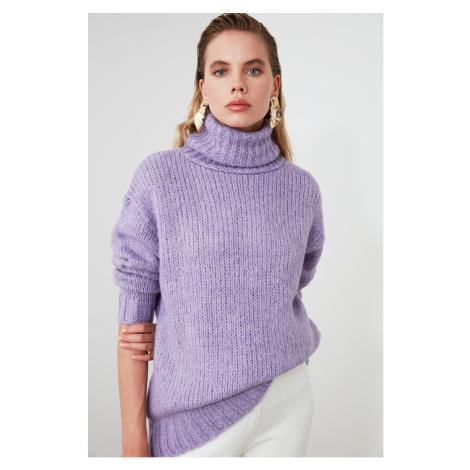 Trendyol Lila Turtleneck Knit Sweater