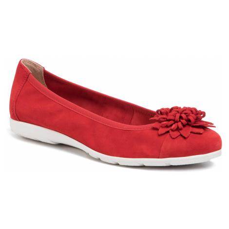 Baleriny CAPRICE - 9-22157-24 Red Suede 524