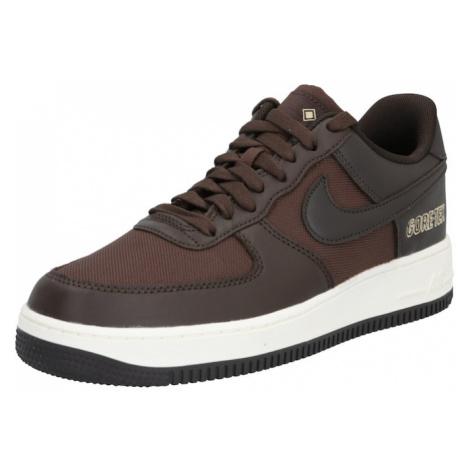 Nike Sportswear Trampki niskie 'Air Force 1' ciemnobrązowy / czekoladowy
