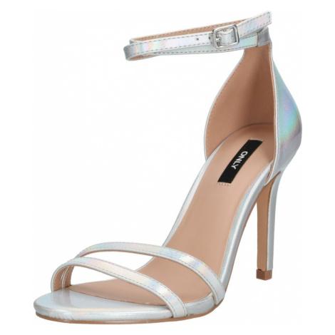 ONLY Sandały z rzemykami 'AILA ' srebrny