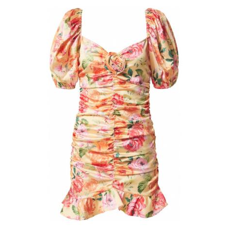 For Love & Lemons Sukienka 'VERSILLA' różowy / pomarańczowy / jasnożółty / zielony