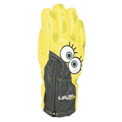Level LUCKY żółty 3 - Rękawice narciarskie dziecięce