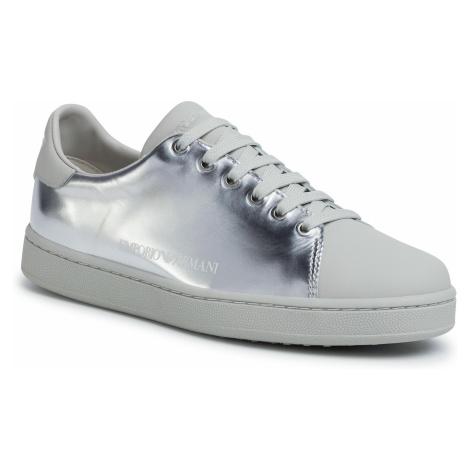Sneakersy EMPORIO ARMANI - X3X061 XL814 R784 Silver/Light Grey