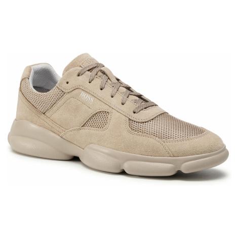 Sneakersy BOSS - Rapid 50432847 10214574 01 Beige/Khaki 250 Hugo Boss