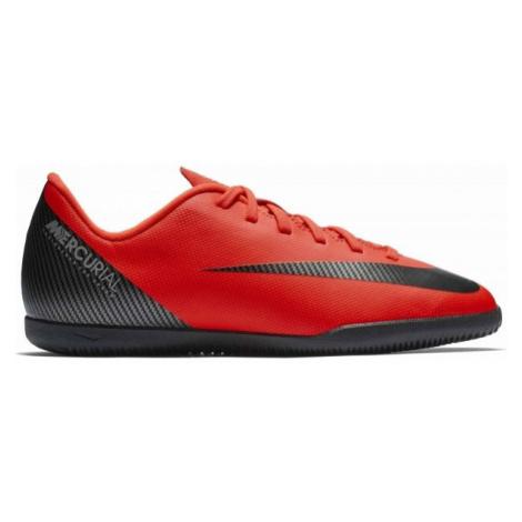 Nike CR7 JR VAPORX 12 CLUB IC czerwony 5Y - Obuwie halowe chłopięce