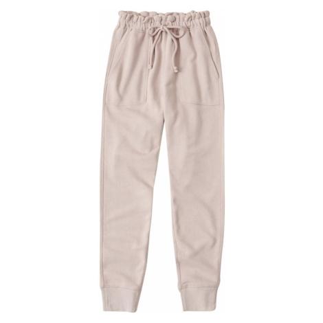 Abercrombie & Fitch Spodnie różowy pudrowy