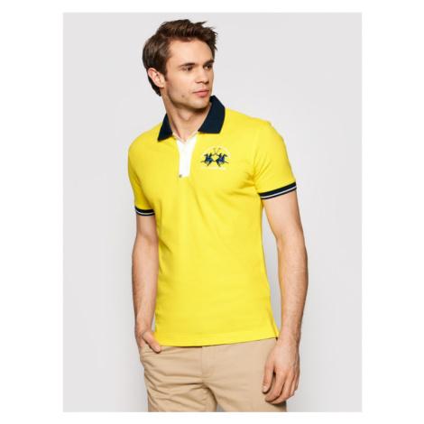 La Martina Polo RMP005 PK001 Żółty Slim Fit