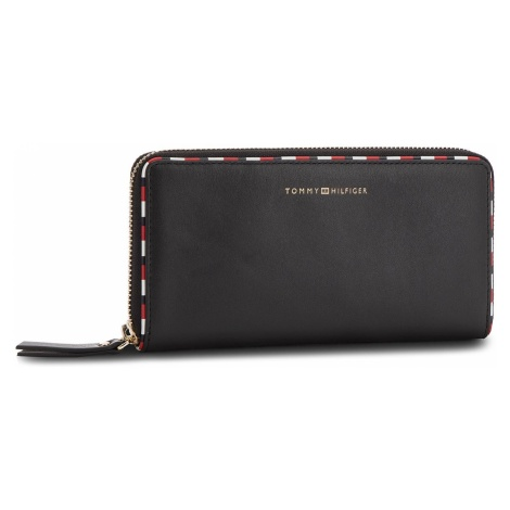 Duży Portfel Damski TOMMY HILFIGER - Classic Leather Lar AW0AW05756 002