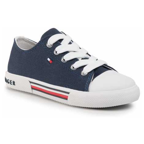 Trampki TOMMY HILFIGER - Low Cut Lace-Up Sneaker T3X4-30692-0890 M Blue 800