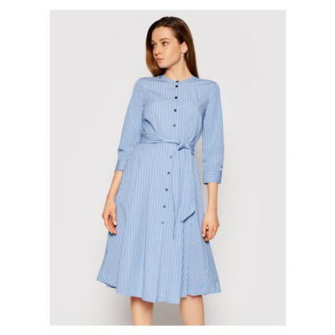 Tommy Hilfiger Sukienka koszulowa Yid Cot WW0WW30350 Granatowy Regular Fit