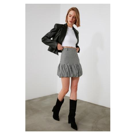 Trendyol Black Plaid Skirt